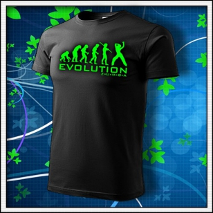 Evolution Zumba - unisex so zelenou neónovou potlačou