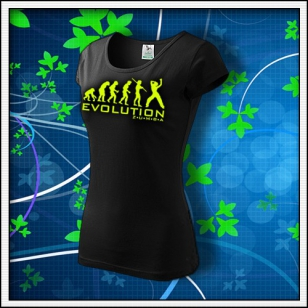 Evolution Zumba - dámske tričko so žltou neónovou potlačou