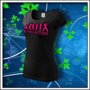 Evolution Zumba - dámske tričko s ružovou neónovou potlačou