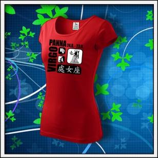 Znamenie Panna - dámske červené