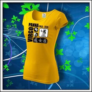 Znamenie Panna - dámske žlté