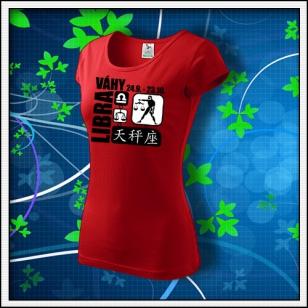 Znamenie Váhy - dámske červené