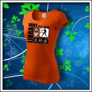 Znamenie Váhy - dámske oranžové