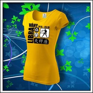 Znamenie Váhy - dámske žlté