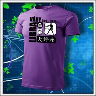 Znamenie Váhy - fialové