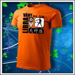 Znamenie Váhy - oranžové
