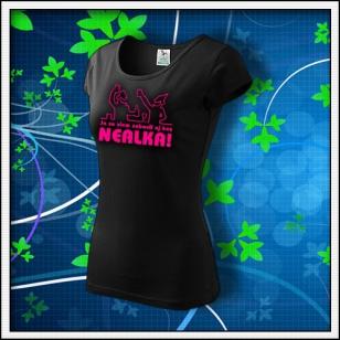Zábava bez nealka - dámske tričko s ružovou neónovou potlačou