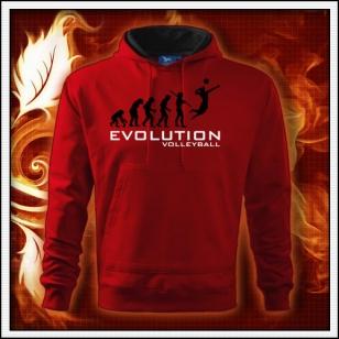 Evolution Volleyball - červená mikina