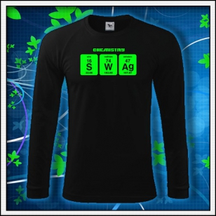 SWAG - čierne DR pánske so zelenou neónovou potlačou