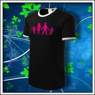 Symbol rodiny - LE tričko čierne s bielym lemom