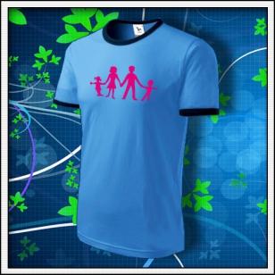 Symbol rodiny - LE tričko svetlomodré s modrým lemom