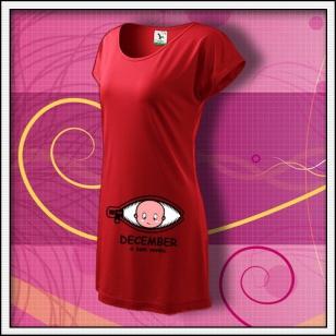 ... a som vonku - červené tričko / šaty