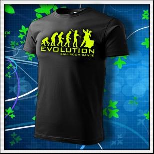 Evolution Ballroom Dance - unisex so žltou neónovou potlačou
