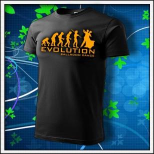 Evolution Ballroom Dance - unisex s oranžovou neónovou potlačou