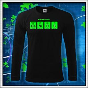 GENIUS - čierne DR pánske so zelenou neónovou potlačou