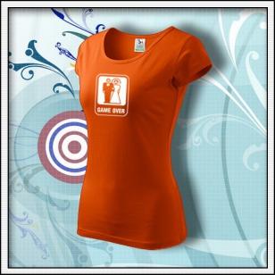 Game Over - dámske oranžové