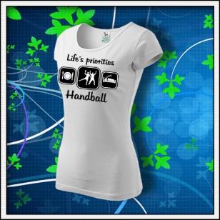 Life´s priorities - Handball - dámske biele