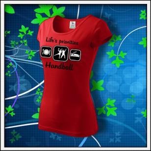 Life´s priorities - Handball - dámske červené