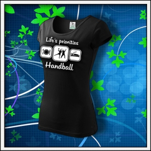 Life´s priorities - Handball - dámske čierne