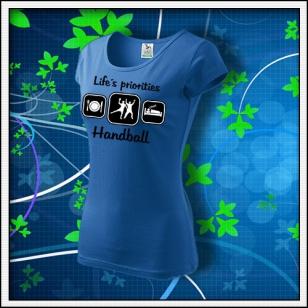 Life´s priorities - Handball - dámske svetlomodré