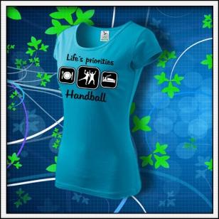 Life´s priorities - Handball - dámske tyrkysové