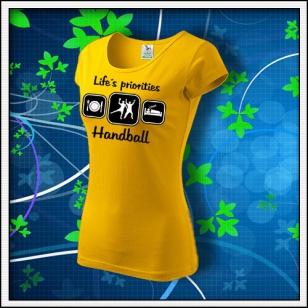 Life´s priorities - Handball - dámske žlté