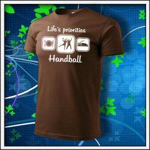 Life´s priorities - Handball - čokoládové