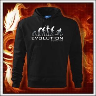Evolution Bowling - čierna mikina reflexná potlač