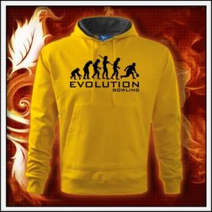 Evolution Bowling - žltá mikina