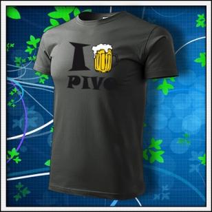I Love Pivo - tmavá bridlica