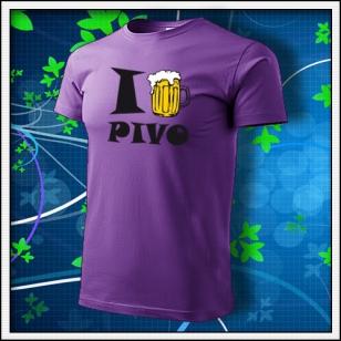 I Love Pivo - biele - fialové