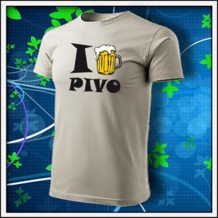 I Love Pivo - fľaškovozelené