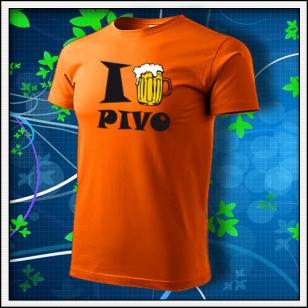 I Love Pivo - oranžové