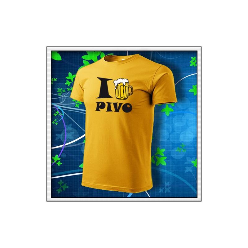 I Love Pivo - žlté