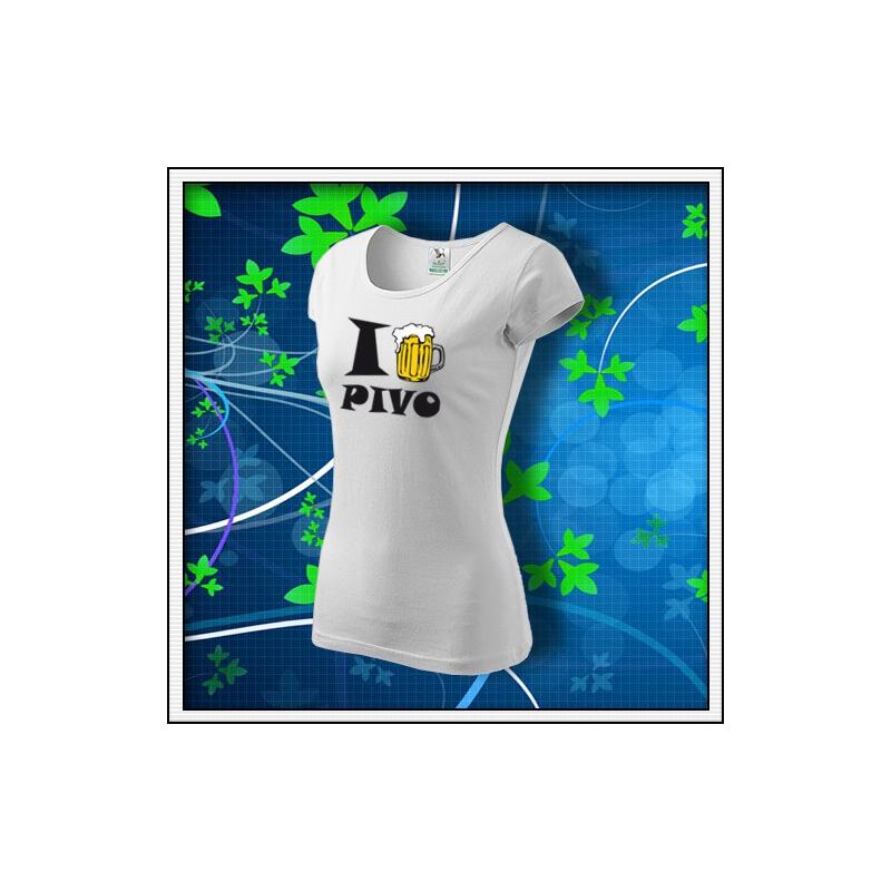 I Love Pivo - dámske biele