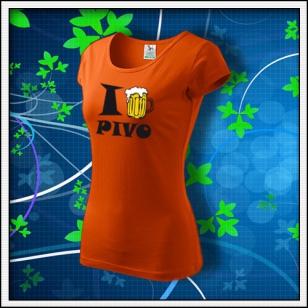 I Love Pivo - dámske oranžové