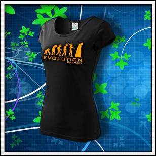 Evolution Batman - dámske tričko s oranžovou neónovou potlačou