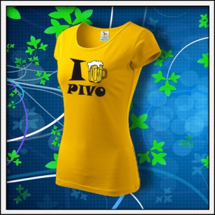 I Love Pivo - dámske žlté