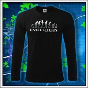 Evolution PC - čierne DR pánske reflexná potlač