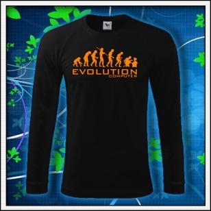 Evolution PC - čierne DR pánske s oranžovou neónovou potlačou