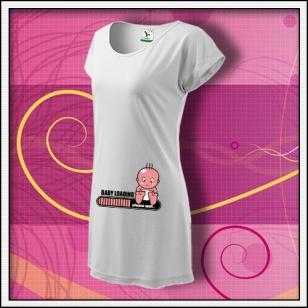 Baby loading - biele tričko / šaty