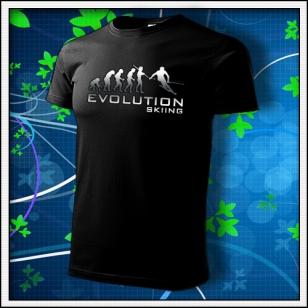 Evolution Skiing - unisex reflexná potlač