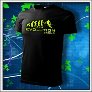 Evolution Skiing - unisex so žltou neónovou potlačou
