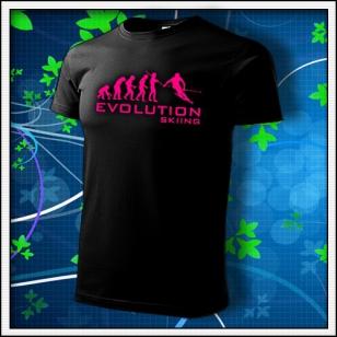 Evolution Skiing - unisex s ružovou neónovou potlačou