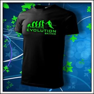 Evolution Skiing - unisex so zelenou neónovou potlačou
