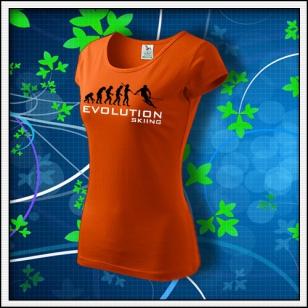 Evolution Skiing - dámske oranžové