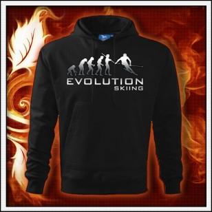 Evolution Skiing - čierna mikina reflexná potlač