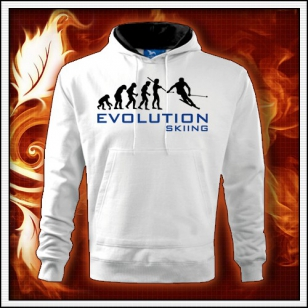 Evolution Skiing - biela pánska mikina