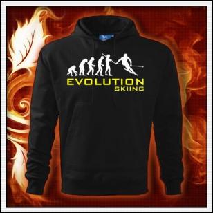Evolution Skiing - čierna pánska mikina
