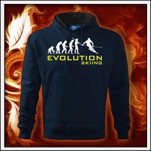 Evolution Skiing - tmavomodrá pánska mikina